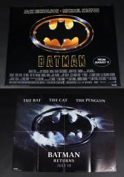BATMAN (1989) & BATMAN RETURNS (1992) - UK Quad Posters