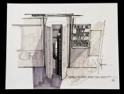 BLADE RUNNER (1982) - Signed Syd Mead Hand-Drawn Kiosk 'Proximity Sensor' Concept Artwork