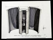BLADE RUNNER (1982) - Signed Syd Mead Hand-Drawn 'Kiosk' Concept Artwork